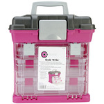 Grab'n Go 3-By Rack System - Magenta/Sparkle Gray - Creative Options
