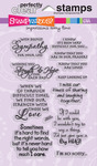 Sincere Sentiments - Stampendous Perfectly Clear Stamps