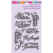 Spanish Greetings - Stampendous Perfectly Clear Stamps