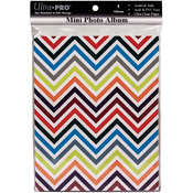 "Chevron Rainbow - Mini Photo Album 4""X6"" Holds 24 Photos"