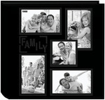 """Family - Sewn Embossed Collage Frame 5-Up Photo Album 12""""X12"""""""
