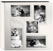 "Wedding - Sewn Embossed Collage Frame 5-Up Photo Album 12""X12"""