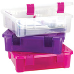 File Tub - Clear/Magenta - Creative Options