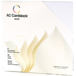 "White American Crafts Cardstock Pack 12""X12"" 60/Pkg"