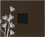 """Chestnut W/Printed Flowers - Patterned 3-Ring Album 12""""X12"""""""