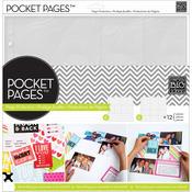 """Assortment #2 - Me & My Big Ideas Pocket Pages Protectors 12""""X12"""" 12/Pkg"""