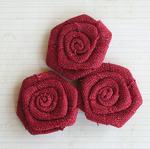 """Barn - Vintage Linen Burlap Roses 2"""" 3/Pkg"""