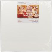 """White 24""""X24"""" - Fancy Back Decor Canvas 2/Pkg"""