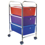 "15.25""X26""X13"" Multicolor - Cropper Hopper Home Center Rolling Cart W/3 Drawers"