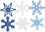 "Winter - Medium Felt Snowflakes 1.25"" 36/Pkg"