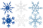 "Winter - Large Felt Snowflakes 2"" 24/Pkg"