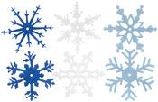 "Winter - Large Felt Snowflakes 2"" 24/Pkg"