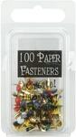 Round - Primary - Mini Painted Metal Paper Fasteners 3mm 100/Pkg