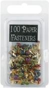 Round - Matte Heritage - Mini Painted Metal Paper Fasteners 3mm 100/Pkg