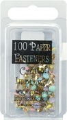Round - Pastel - Mini Painted Metal Paper Fasteners 3mm 100/Pkg