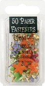 Funky Flowers - Tropical - Painted Metal Paper Fasteners 50/Pkg