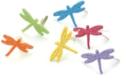 Dragonflies - Tropical - Painted Metal Paper Fasteners 50/Pkg