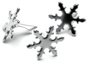 Snowflakes - Silver - Metal Paper Fasteners 50/Pkg