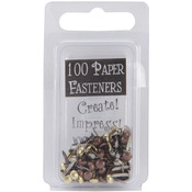 Round - Antique - Mini Metal Paper Fasteners 3mm 100/Pkg