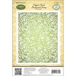 Elegant Fronds - JustRite Papercraft Cling Background Stamp