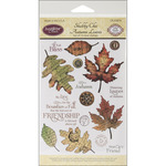 Shabby Chic Autumn Leaves - JustRite Papercraft Clear Stamp Set