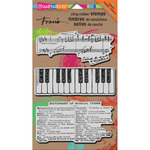 Musical Motif - Stampendous Fran's Cling Rubber Stamp