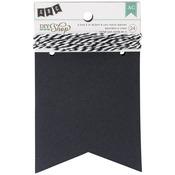 "Chalkboard Notch, 3.5""X4.5"" - DIY Shop Banner 24pcs W/String"