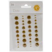 Gold - Essentials Enamel Dots 36/Pkg