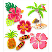 Hawaiian - Jolee's Boutique Dimensional Stickers