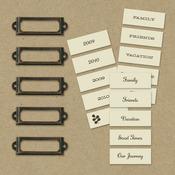 Eco-Modern Metal Art Labels & Holders, 20pcs