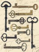 Keys - Life's Journey Metal Art