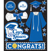 Blue Cap & Gown - Life's Little Occasions Sticker Medley