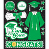 Green Cap & Gown - Life's Little Occasions Sticker Medley
