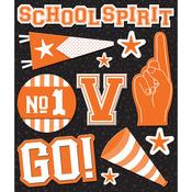 Orange School Spirit Sticker Medley - Life's Little Occasions