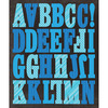 Blue Stripes - Life's Little Occasions Alphabet Die-Cut Stickers