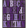 Purple Stripes - Life's Little Occasions Alphabet Die-Cut Stickers