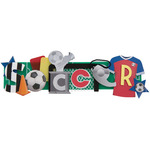 Soccer - Stacked Statement Stickers
