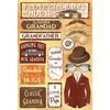 Classic Grandpa - Cardstock Stickers