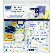 "Purify & Cleanse Baptism - Scrapbook Page Kit 12""X12"""