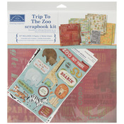 Trip To The Zoo Scrapbook 12 x 12 Page Kit