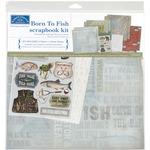 "Born To Fish - Scrapbook Page Kit 12""X12"""