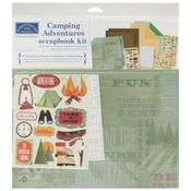 """Camping Adventures - Scrapbook Page Kit 12""""X12"""""""