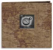 """World Map - Travel Post Bound Album 12""""X12"""""""