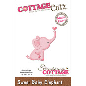 Sweet Baby Elephant Mini Die - CottageCutz