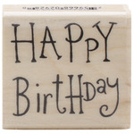 Happy Birthday - Penny Black Mounted Rubber Stamp