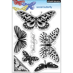 Social Butterfly - Penny Black Clear Stamps