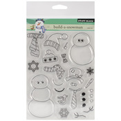 Build - A - Snowman - Penny Black Clear Stamps