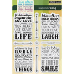 Life's Messages - Penny Black Cling Rubber Stamp Sheet