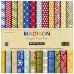 "Madison - Penny Black 6""X6"" Paper Pad"