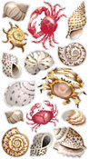Shells & Crabs Classic Stickers- Sticko Stickers